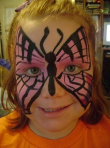 Greenville face painter butterfly